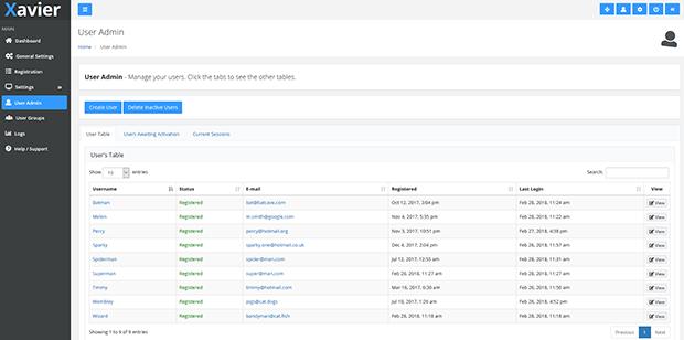 Xavier - PHP Login Script & User Management Admin Panel - 3